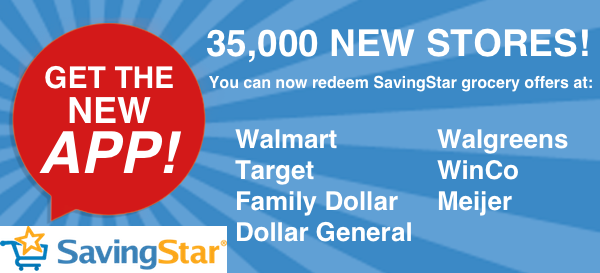 Now Use SavingStar at Target, Walmart, Walgreens, Meijer, and More New Stores + Don't Miss Their Weekly Freebie!