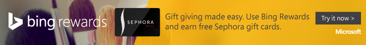 FREE Gift Cards from Bing Search