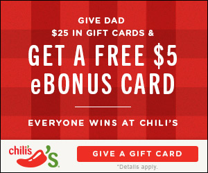 FREE Chilis Gift Card