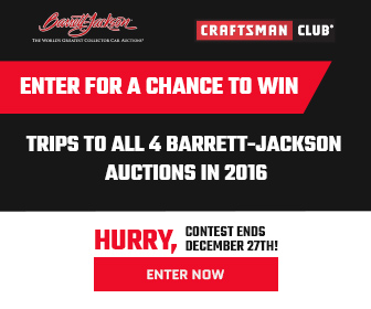 Enter to Win the 2016 Barrett-Jackson Auctions Sweepstakes from Craftsman