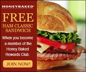 HoneyBaked Ham free sandwich coupon