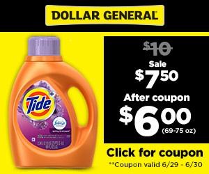 FREE Dollar General Tide Savings