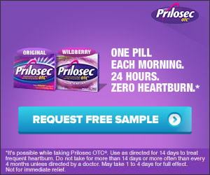 FREE sample of Prilosec OTC...
