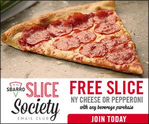 FREE Pizza at Sbarro