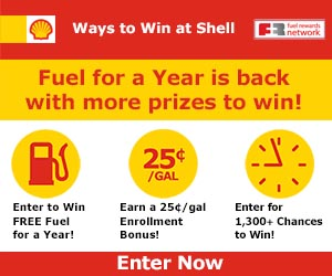 Win a Year of Free Gas at Shell Fuel Rewards