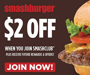 Smashburger: $2 off any $5 Purchase Coupon