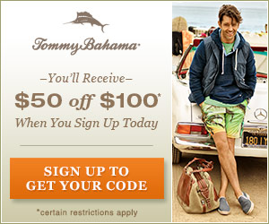 Tommy Bahama $50 OFF $100...