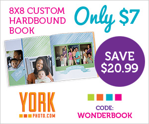 York Photo: Custom 20-page Hardbound Book Only $7 + 40 FREE 4x6 Photo Prints!