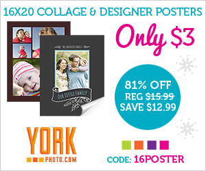 York Photo: $3 16x20 Collage a...