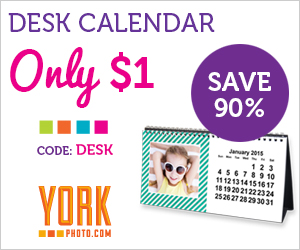 York Photo $1 Desk Calendar...
