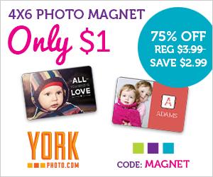 York Photo $1 4x6 Photo Magnet...