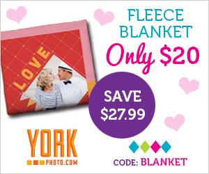 York Photo $20 Fleece Blanket.
