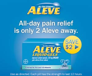 300x250 alt $2.00 off ANY Aleve 80ct or larger Coupon