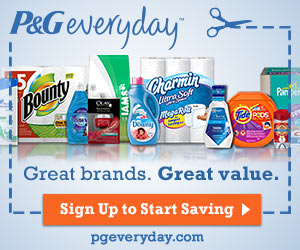 Image: Sign up for P+G Everyday newsletter and receive exclusive coupons, useful tips and ideas and learn about free samples, new products and exciting promotions