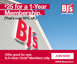BJ's Inner Circle Membership Only $25 (REG $55)
