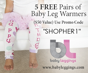5 FREE Pairs of Baby Leggings - Just Pay Shipping