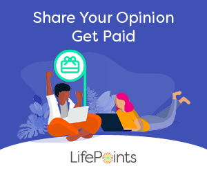 LifePoints Panel and earn rewards.