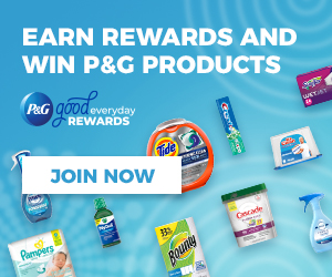 Sign up for P&G Good Everyday Reward