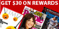 Sign up with RewardSurvey and take survey to receive 20 points to acquire the magazine of your choice.