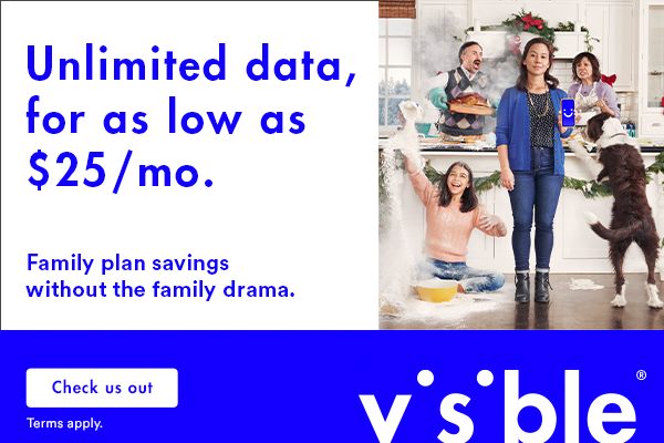 Get Unlimited Data with Visible, Powered by Verizon